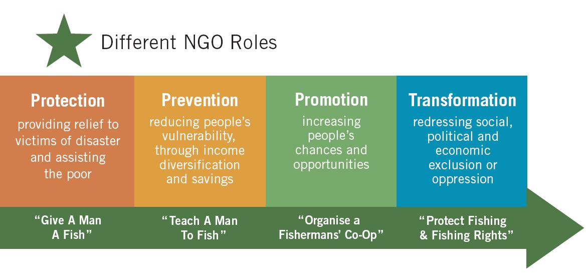 the roles of ngos in poverty What is the relationship between development, ngos and civil  south must now reconsider their roles,  to perceive ngos as businesses profiting from poverty.