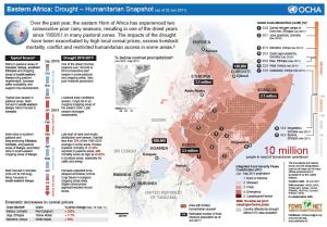 Eastern Africa: Drought – Humanitarian Snapshot