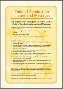 Read the Dóchas Code of Conduct on Images & Messages