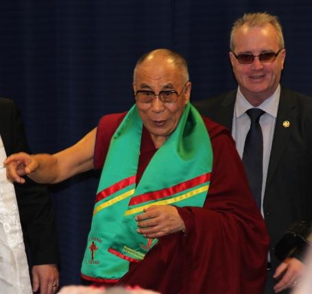 Dalai Lama and Richard Moore 18 April 2013