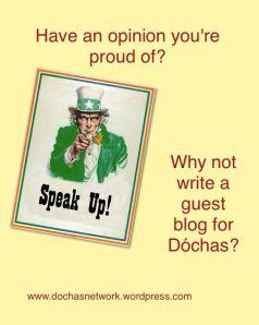 Write a guest blog for Dóchas